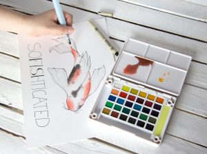 SoFISHticated water color painting
